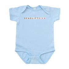 Deadlift Diva - Brown & Pink Infant Bodysuit