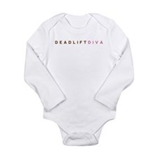 Deadlift Diva - Brown & Pink Long Sleeve Infant Bo