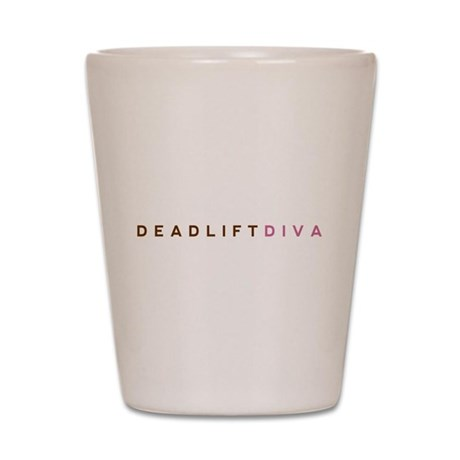 Deadlift Diva - Brown & Pink Shot Glass