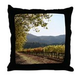 Napa Vineyard Turning Leaf Throw Pillow