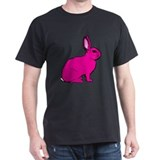 Pink Rabbit T-Shirt (Black )