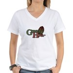 Green Hoe Women's V-Neck T-Shirt