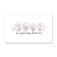 Laughing-Sisters Car Magnet 20 x 12