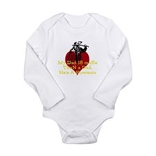 Cute House fire Long Sleeve Infant Bodysuit