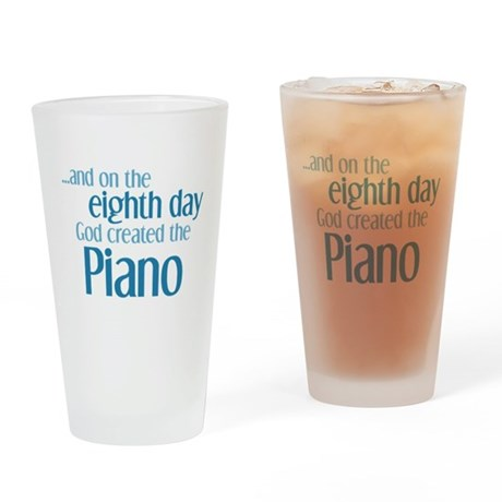 Piano Creation Drinking Glass