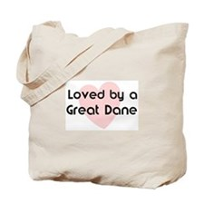 Loved by a Great Dane Tote Bag