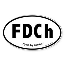 FDCh, Flyball Dog Champion, 500 Oval Decal