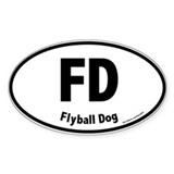 FD, Flyball Dog, 20, Oval Decal