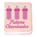 Future Cheerleader Gift baby blanket