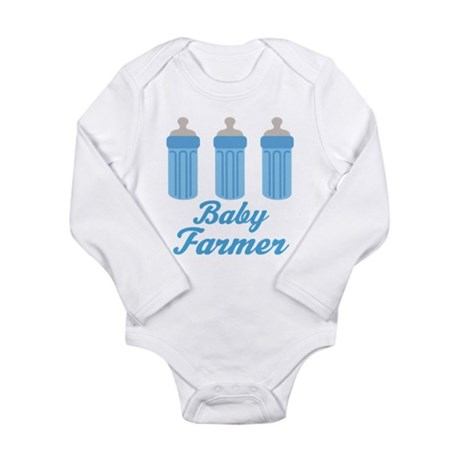 Future Farmer Gift Long Sleeve Infant Bodysuit
