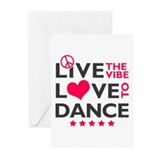 Live Love Dance Greeting Cards (Pk of 10)