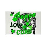 Peace Love Cure 2 Lyme Disease Rectangle Magnet