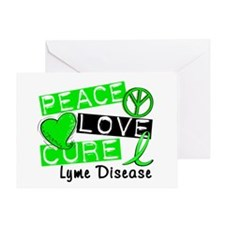 Peace Love Cure Lyme Disease Greeting Card