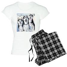 Three Huskies Pajamas