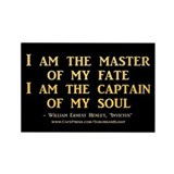 &quot;Master Of My Fate&quot; Rectangle Magnet