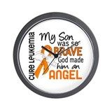 Angel 2 Leukemia Wall Clock
