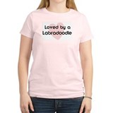 Loved by a Labradoodle Women's Pink T-Shirt