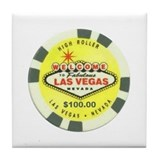 Las Vegas Poker Chip Tile Coaster