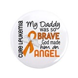 "Angel 2 Leukemia 3.5"" Button"