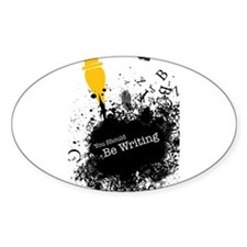 You should be writing (pen) Sticker (Oval)