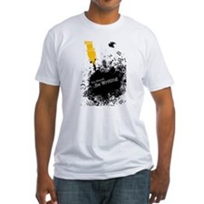 You should be writing (pen) Fitted T-Shirt