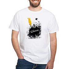 You should be writing (pen) White T-Shirt