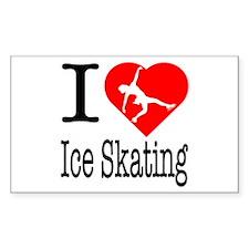 I Love Ice Skating Decal