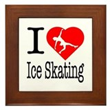 I Love Ice Skating Framed Tile