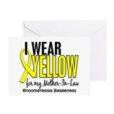 I Wear Yellow 10 Endometriosis Greeting Card