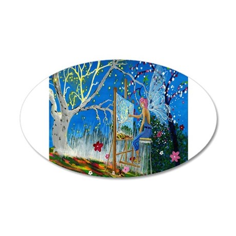 Fairy Artist 35x21 Oval Wall Decal