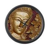 Cute Buddhism Large Wall Clock