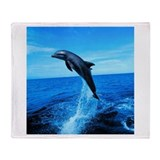 Dolphin Frolicking Throw Blanket