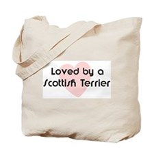 Loved by a Scottish Terrier Tote Bag