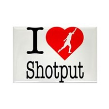 I Love Shotput Rectangle Magnet (10 pack)
