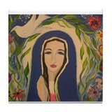 Funny Our lady Tile Coaster