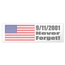 Bumper Sticker - 9/11/2001: Never Forget