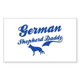 German Shepherd Daddy Decal