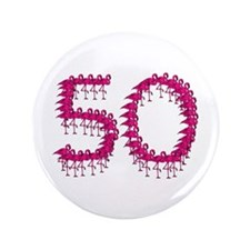 "50th Birthday 3.5"" Button"