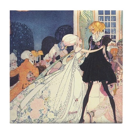 Nielsen's Dancing Princesses Tile Coaster