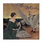 Winter's Wild Swans Tile Coaster