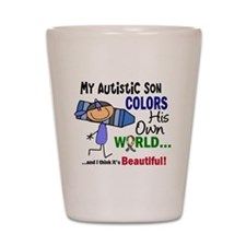 Colors Own World Autism Shot Glass