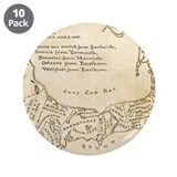 "Old Cape Cod Map 3.5"" Button (10 pack)"