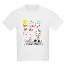 Navy Dad Kids T-Shirt