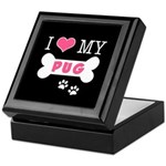 I Love My Pug Keepsake Box