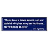 Thinking of Jesus (Pro Obama) Bumper Sticker