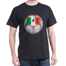 Mexico Soccer Black T-Shirt