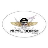 Pilots of the Caribbean Oval  Aufkleber