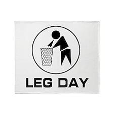 Leg Day Puke Throw Blanket