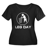 Leg Day Puke Women's Plus Size Scoop Neck Dark T-S