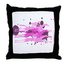Horse Racing in Pink Throw Pillow